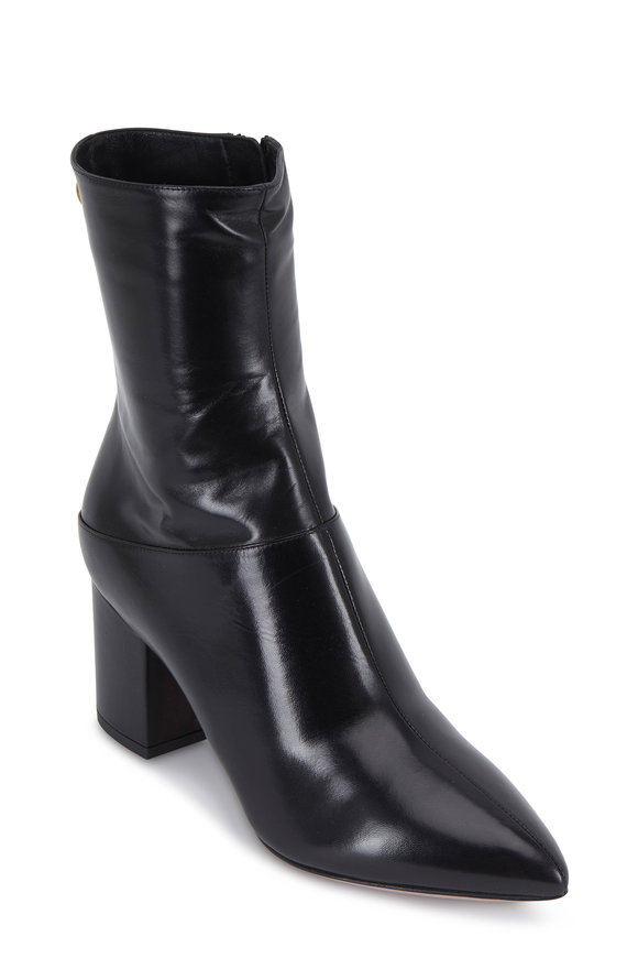 Valentino Garavani Ring Rockstud Black Short Boot, 70mm