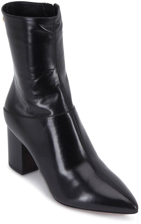 Valentino Garavani Ring Rockstud Black Short Boot, 70mm