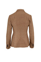 Kiton - Beige Cashmere & Silk Two Button Jacket