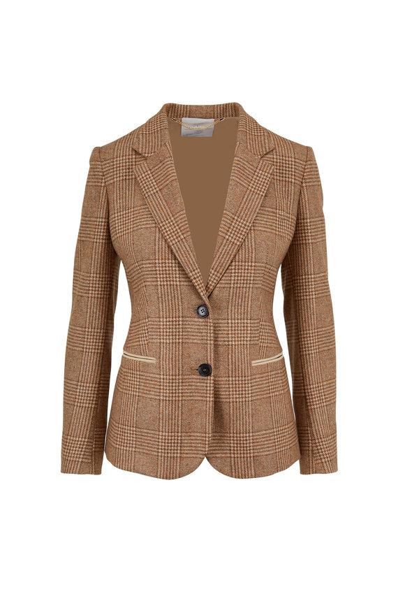 Kiton Beige Cashmere & Silk Two Button Jacket