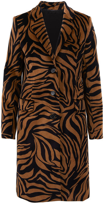 Nili Lotan Rosalin Small Bronze Tiger Print Coat