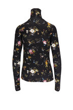 R13 - Black Floral Print Turtleneck