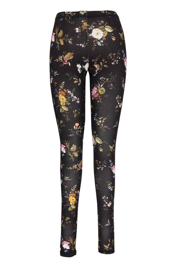 R13 Black Floral Print Leggings