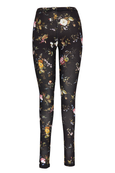 R13 - Black Floral Print Leggings