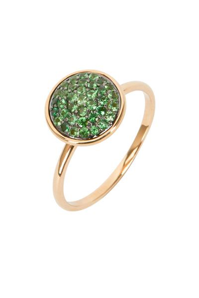 Syna - Yellow Gold Tsavorite Chakra Ring