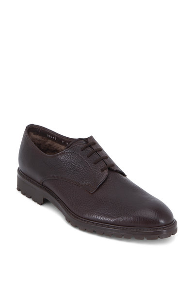 Gravati - Brown Leather Shearling Lined Derby Shoe