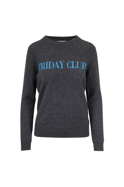 Chinti & Parker - Charcoal Gray Cashmere & Wool FRIDAY CLUB Sweater