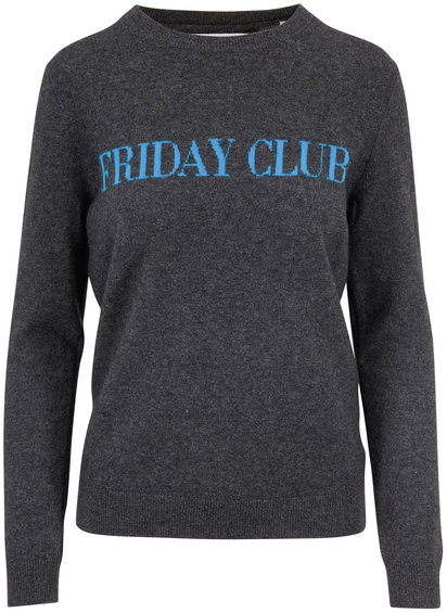 Chinti & Parker Charcoal Gray Cashmere & Wool FRIDAY CLUB Sweater