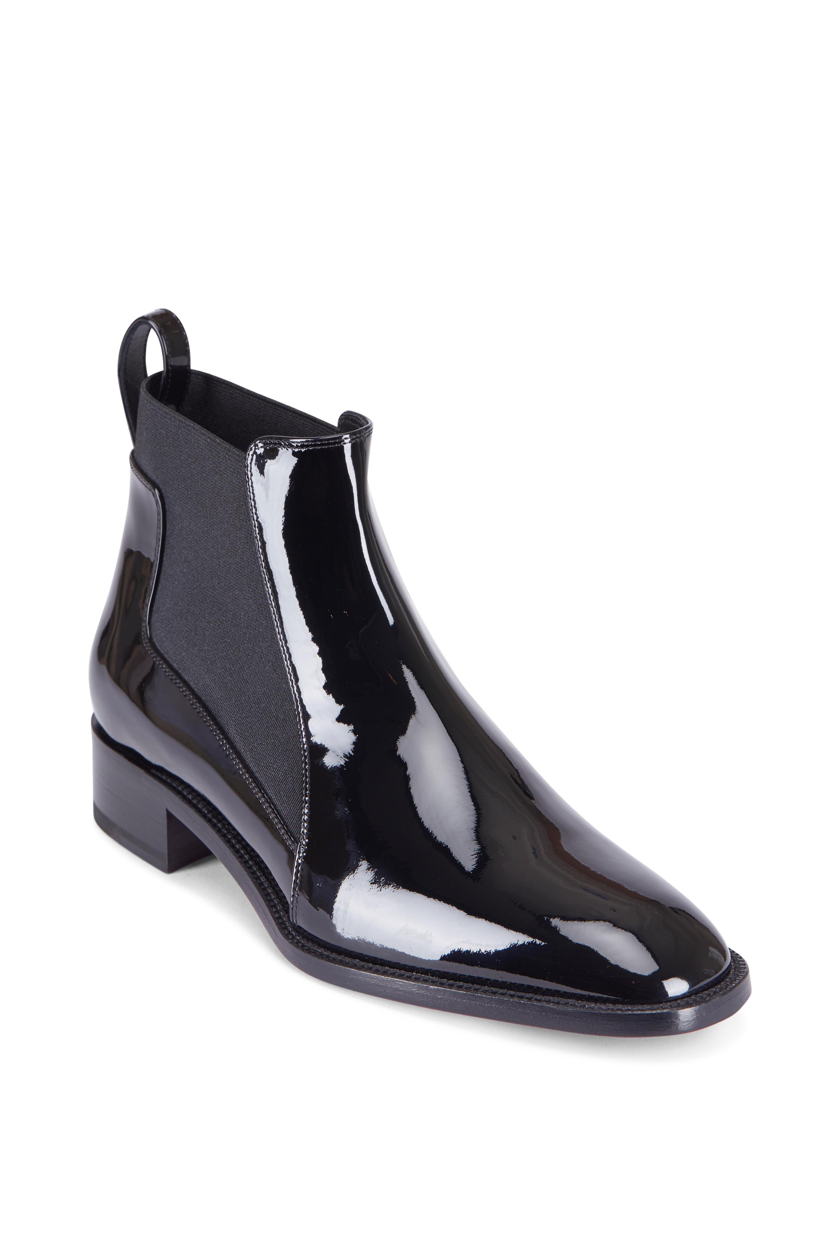buy popular 4215f 1615f Christian Louboutin - Marmada Black Patent Leather Flat ...