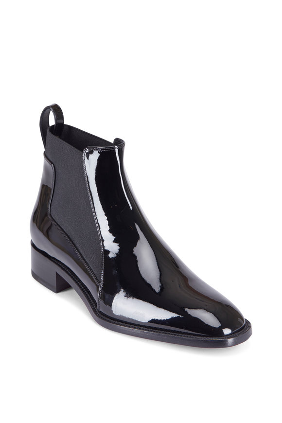 Christian Louboutin Marmada Black Patent Leather Flat Bootie