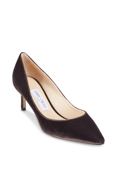Jimmy Choo - Romy Dusk Velvet Lizard Print Pump, 60MM