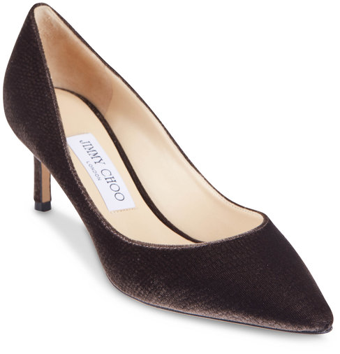 Jimmy Choo Romy Dusk Velvet Lizard Print Pump, 60MM