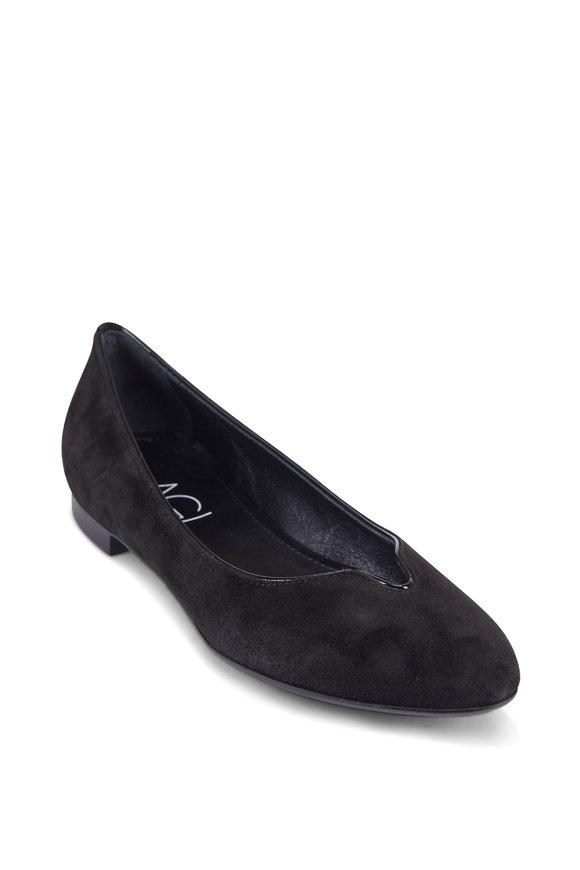 AGL Black Suede Ballet Flats