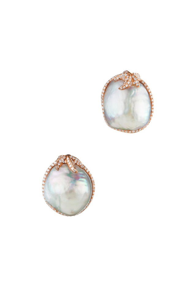 18K Gold South Sea Pearl & Diamond Astrid Earrings