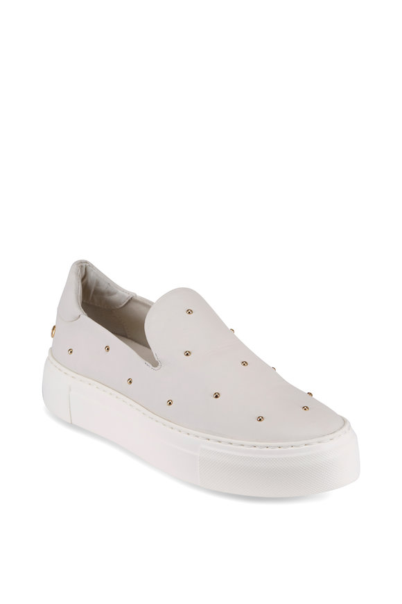 AGL White Gold Studded Slip-On Sneaker