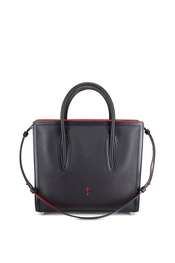 Christian Louboutin Paloma Black & Red Leather Medium Tote