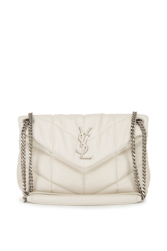 Saint Laurent Loulou Cream Quilted & Padded Leather Small Bag