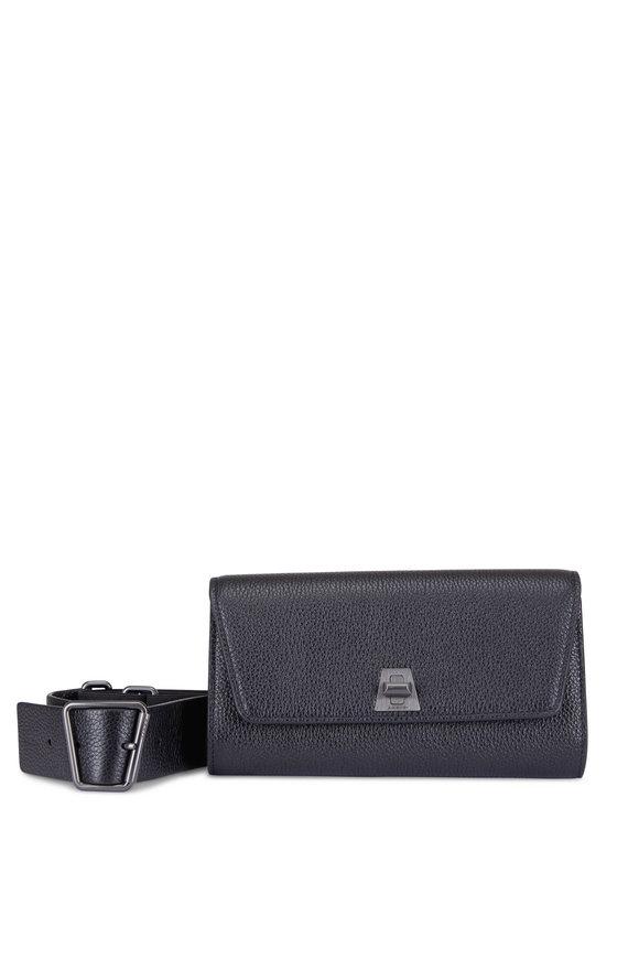 Akris Anouk Black Cervocalf Belt Bag