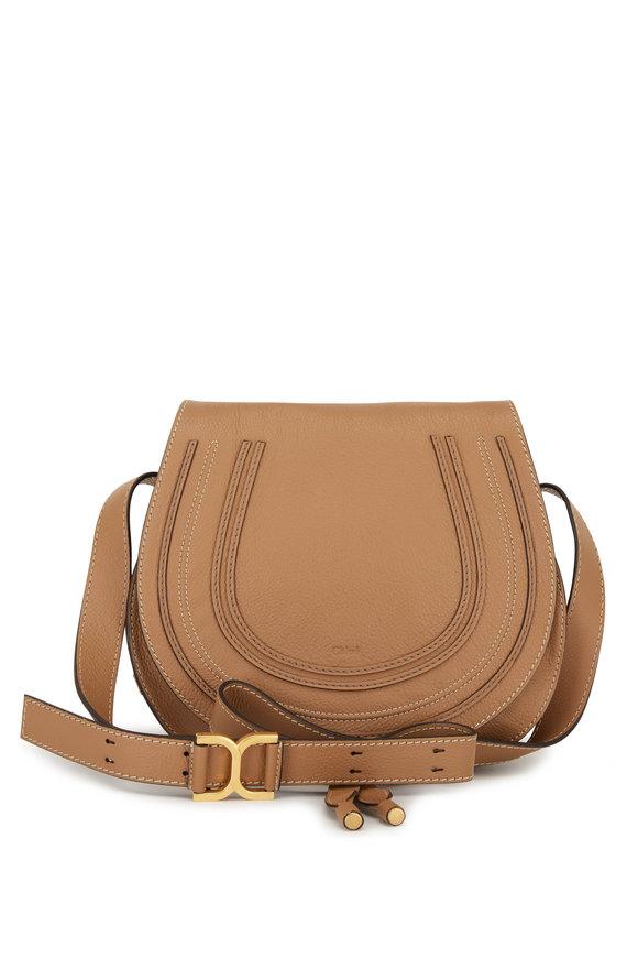 Chloé Marcie Nutmeg Leather Saddle Large Crossbody