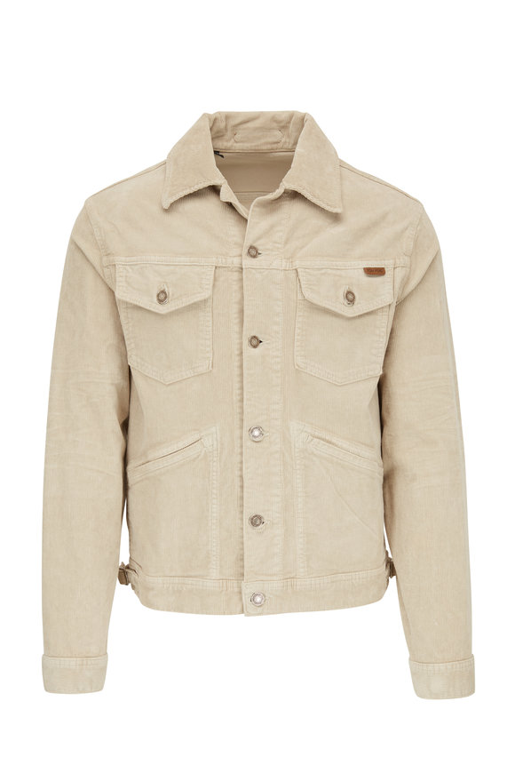 Tom Ford Beige Stretch Cotton Corduroy Jacket