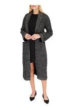 D.Exterior - Black Wool & Angora Blend Sweater Coat