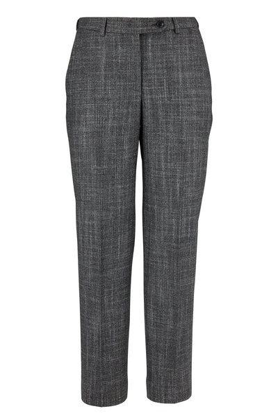 Kiton - Gray Textured Wool, Cashmere & Silk Suit Pant
