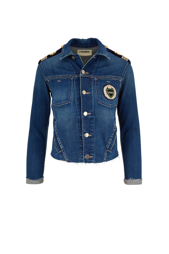 L'Agence Janelle Meridian Crest Slim Denim Jacket