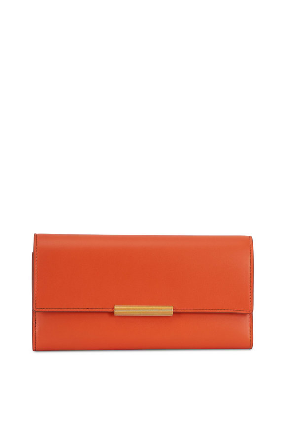 Bottega Veneta Burnt Orange Leather Continental Wallet