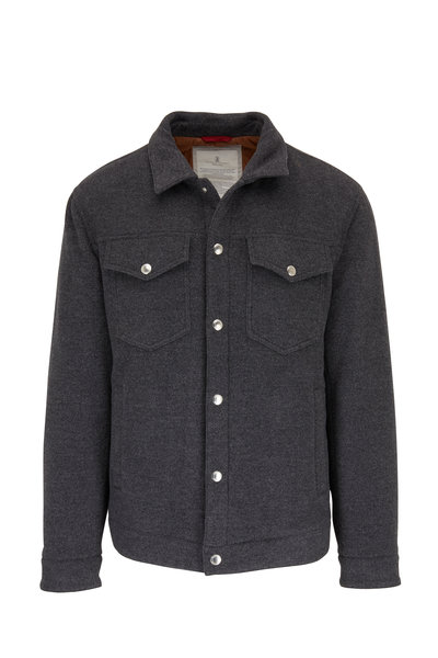 Brunello Cucinelli - Charcoal Gray Wool Two Pocket Jacket