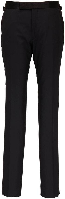 Tom Ford Black Wool Evening Pant
