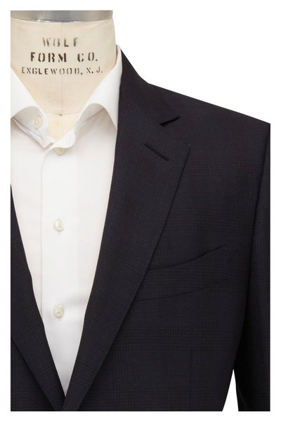 Tom Ford - Navy Tonal Check Wool Suit