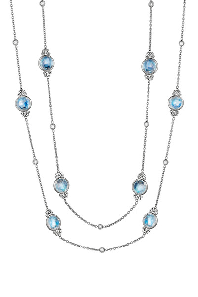 Penny Preville - White Gold Moonstone Diamond Eyeglass Chain