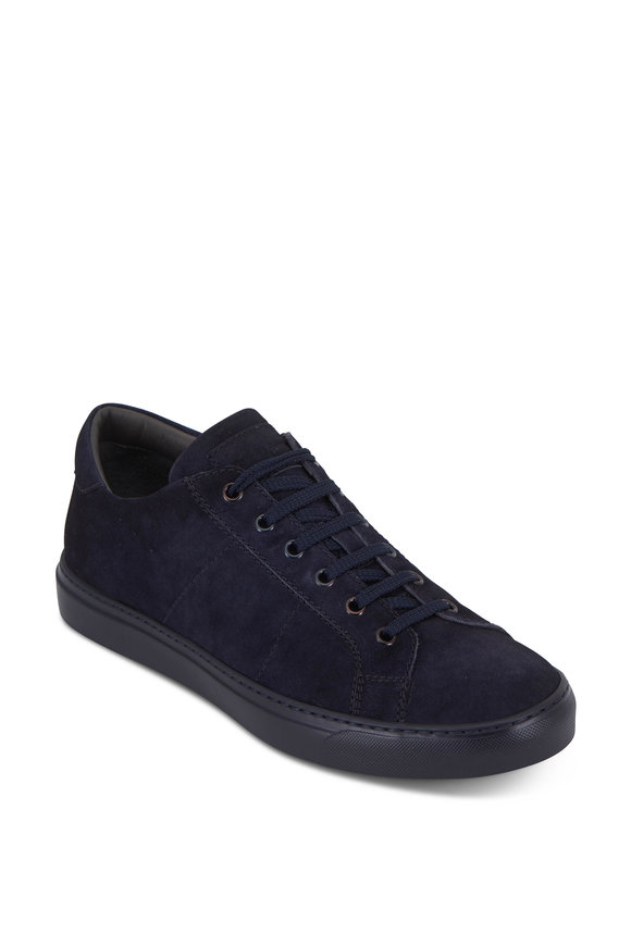 To Boot New York Cordero Navy Blue Quilted Suede Sneaker