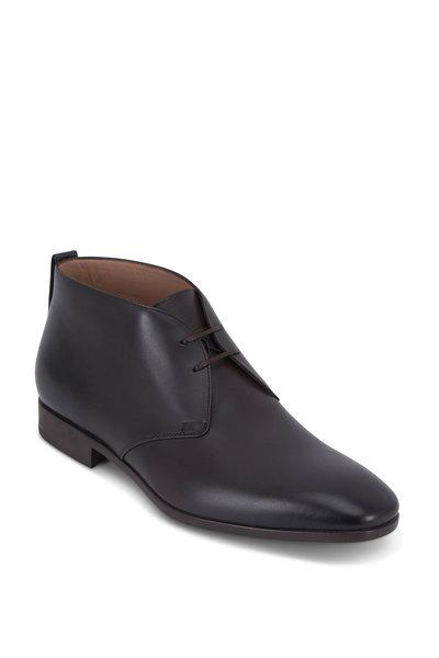 Salvatore Ferragamo - Teodoro Carob Brown Leather Boot