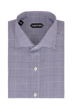 Tom Ford - Navy Blue Prince Of Wales Plaid Sport Shirt