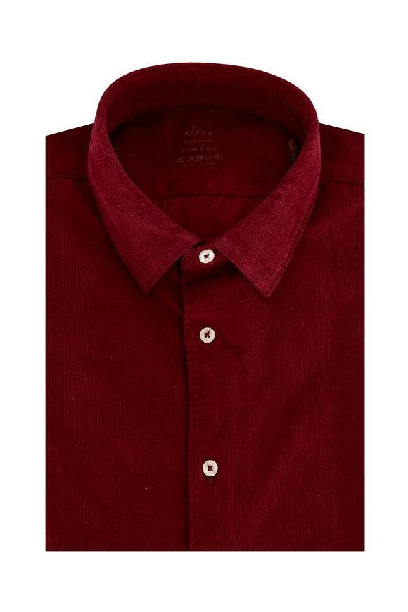 Altea Burgundy Corduroy Dyed Sport Shirt