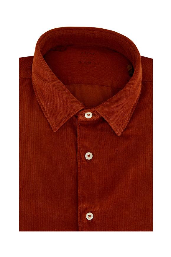 Altea Rust Corduroy Dyed Sport Shirt