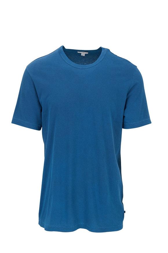 James Perse Sterling Blue Short Sleeve Crewneck T-Shirt