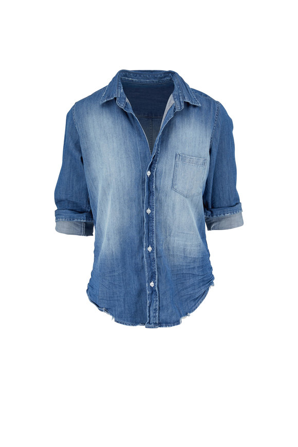 Frank & Eileen Barry Distressed Vintage Wash Button Down