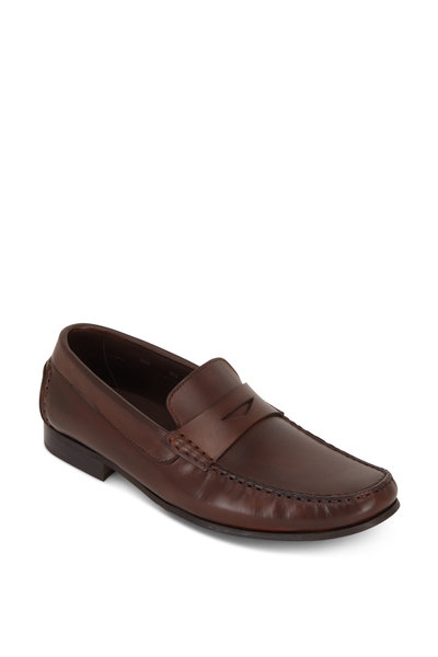 G Brown - Malibu Brown Leather Penny Loafer
