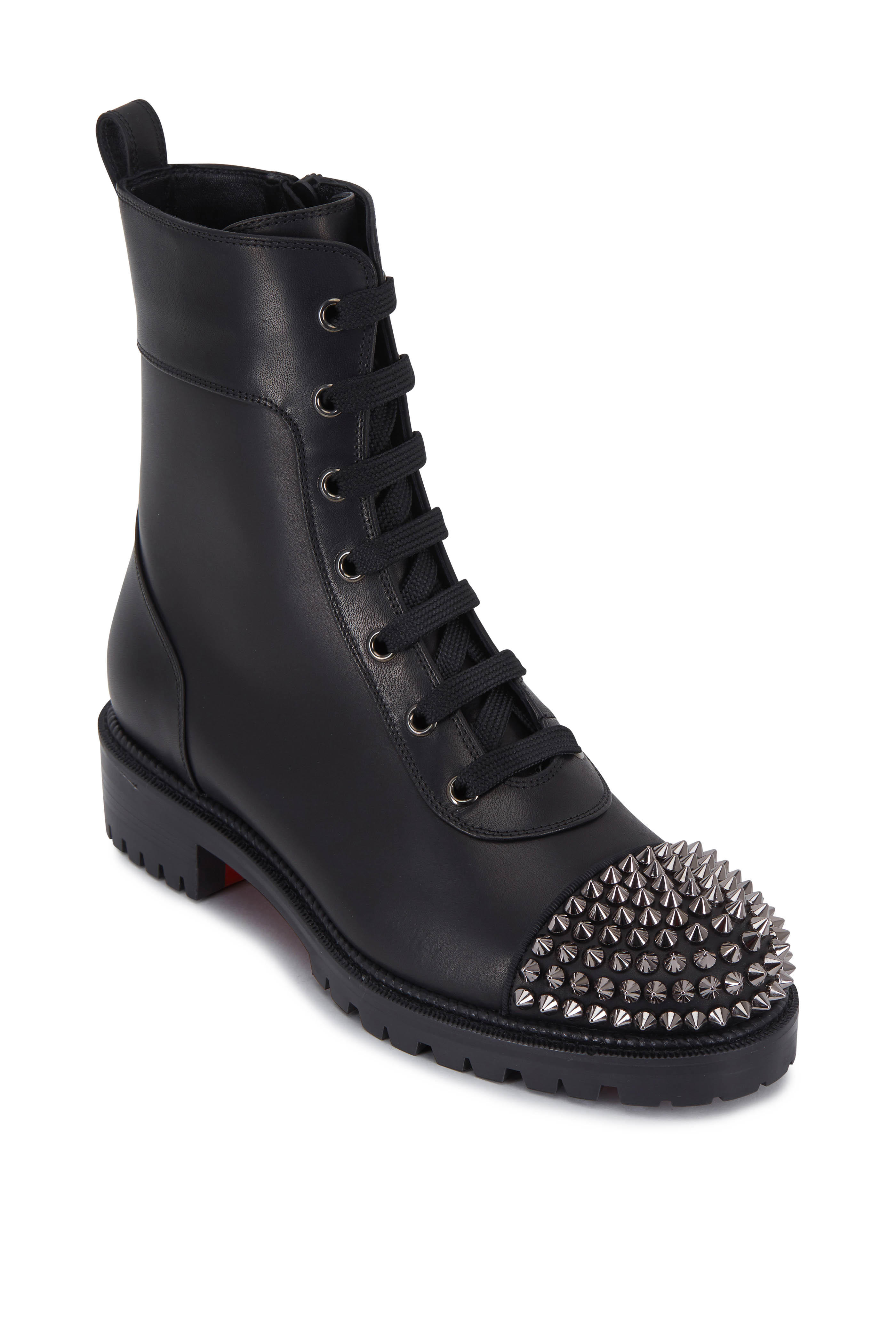 get cheap 1358e a0c27 Christian Louboutin - TS Croc Black Leather Studded Cap-Toe ...