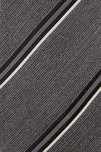 Tom Ford - Gray Diagonal Striped Silk Blend Necktie