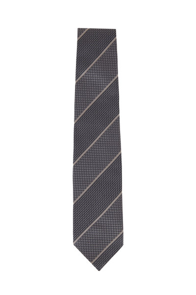 Tom Ford - Charcoal Gray Striped Silk Necktie