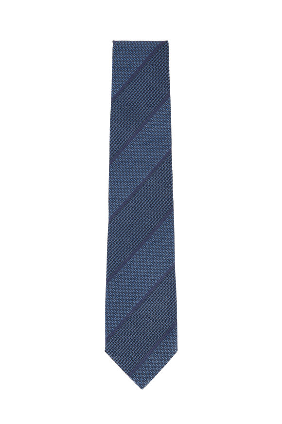 Tom Ford Blue Striped Silk Necktie