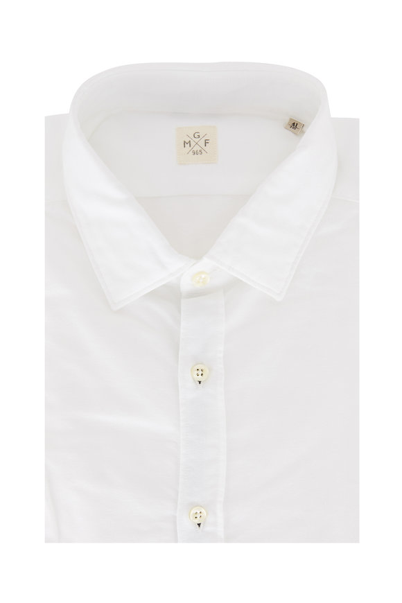 GMF Solid White Sport Shirt
