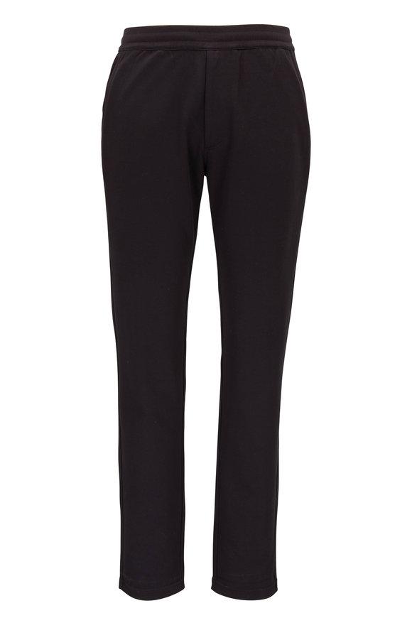 Raffi  Black Aqua Cotton Track Pant