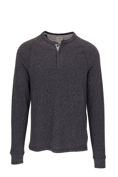 Faherty Brand - Luxe Washed Black Organic Cotton Henley