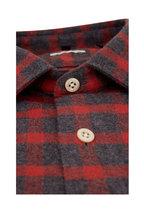 Faherty Brand - Summit Red & Gray Plaid Sport Shirt