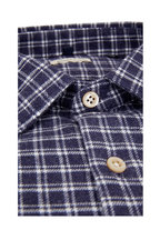 Faherty Brand - Summit Navy Blue Check Sport Shirt