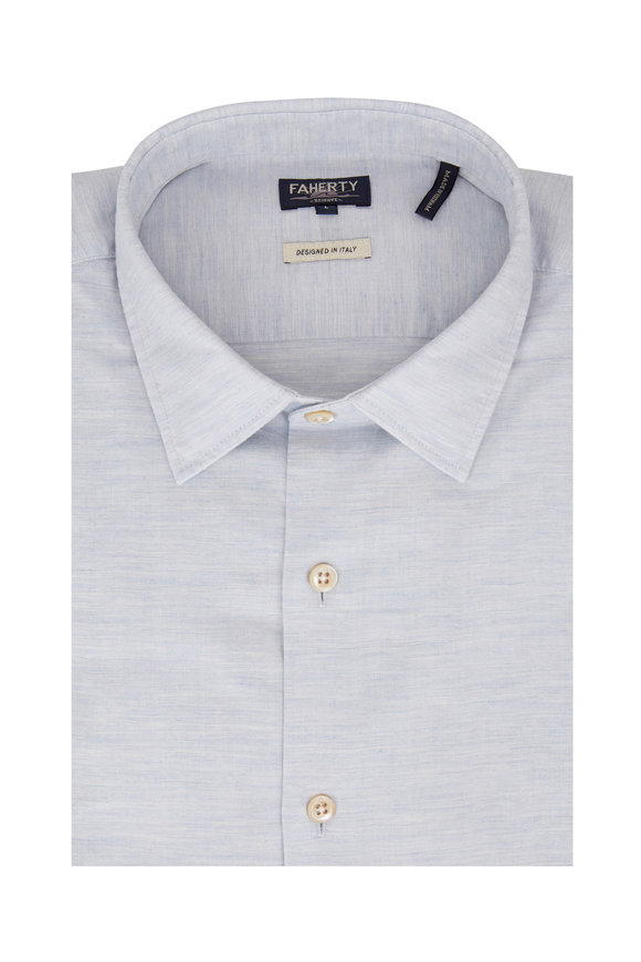 Faherty Brand Summit Light Blue Heather Sport Shirt